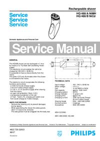 Manual de serviço Philips HQ 488/A NiMH