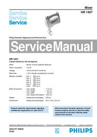 Servicehandboek Philips HR 1457