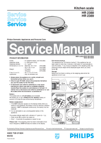 Manual de servicio Philips HR 2389