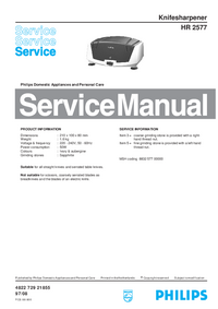 Manual de servicio Philips HR 2577