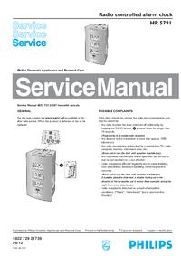 Instrukcja serwisowa Philips HR 5791