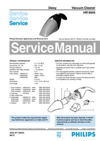 Manuale di servizio Philips Daisy HR 6045
