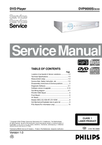 Service Manual Philips DVP9000S/00/69
