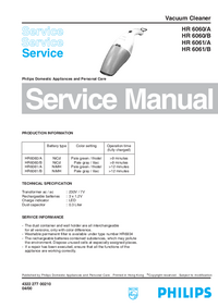 Manual de servicio Philips HR 6060/A