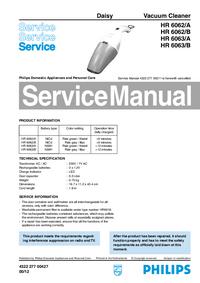 Manual de serviço Philips Daisy HR 6063/A