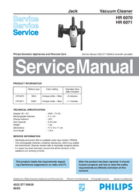 Service Manual Philips Jack HR 6070