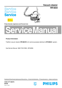 Servicehandboek Philips HR 6834