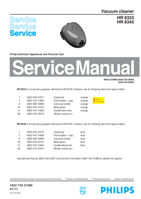 Service Manual Philips HR 8323