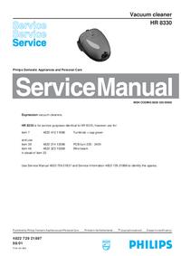 Manuale di servizio Philips HR 8330