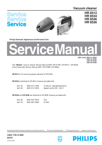 Manual de servicio Philips HR 8512