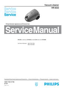 Manuale di servizio Philips HR 8522