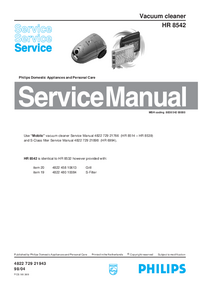 Manual de servicio Philips HR 8542