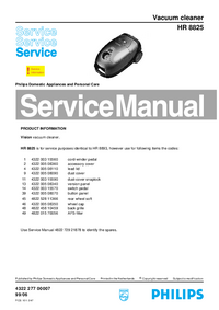 Manual de servicio Philips HR 8825