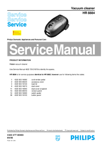 Manual de servicio Philips HR 8884