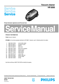 Manual de servicio Philips HR 8898