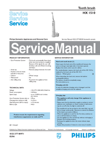 Service Manual Philips HX 1510