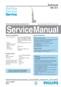 Service Manual Philips HX 1511