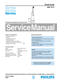 Manual de servicio Philips HX 1517