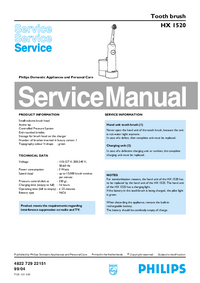 Service Manual Philips HX 1520