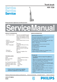 Service Manual Philips HX 1526