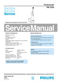 Manual de serviço Philips HX 2520