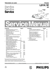 Manual de servicio Philips Chassis L01H.1E AA