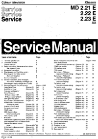 Manual de servicio Philips Chassis MD 2.21 E