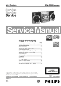 Manual de servicio Philips FW-C330