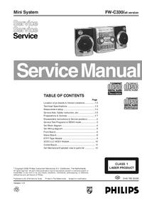 Руководство по техническому обслуживанию Philips FW-C330