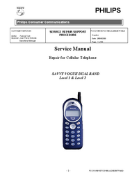 Servicehandboek Philips SAVVY VOGUE DUAL BAND Level 1