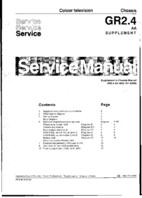 Service Manual Supplement Philips Chassis GR2.4