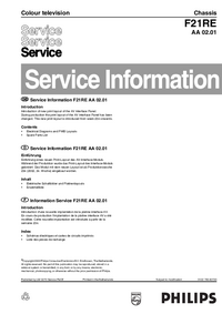 Service Manual Supplement Philips Chassis F21RE