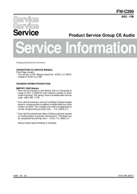 Service Manual Supplement Philips FW-C399