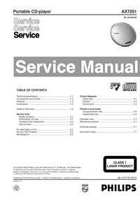 Service Manual Philips AX7201