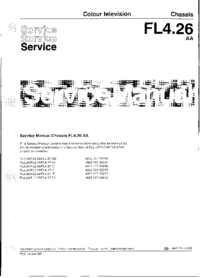 Manual de servicio Philips Chassis FL4.26