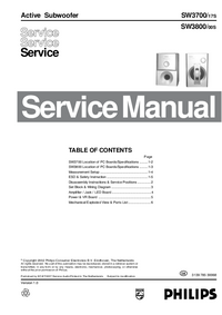 Service Manual Philips SW3700
