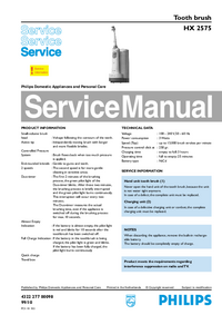 Manual de servicio Philips HX 2575
