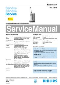 manuel de réparation Philips HX 2575