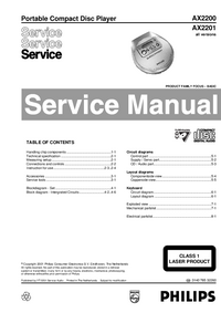 Service Manual Philips AX2201