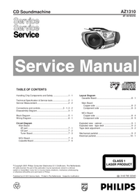 Service Manual Philips AZ1310