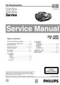 manuel de réparation Philips AZ1300