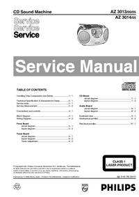 Manual de servicio Philips AZ 3013