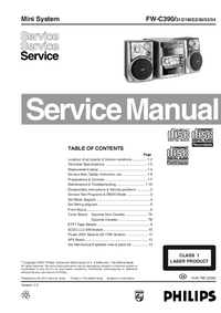 Manual de servicio Philips FW-C390