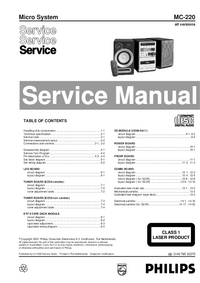 Manual de serviço Philips MC-220