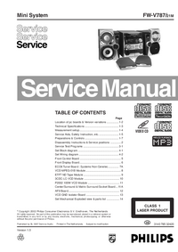 Serviceanleitung Philips FW-V787