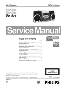Manual de servicio Philips FW-C155
