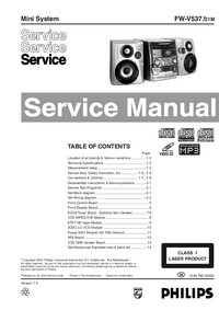 Manual de servicio Philips FW-V537