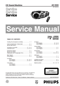 Manual de servicio Philips AZ 2555