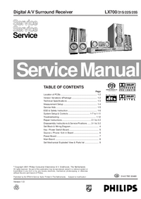 Service Manual Philips LX700