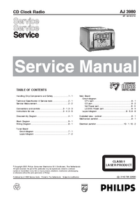 Manual de servicio Philips AJ 3980